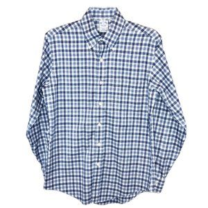 Brooks Brothers Mens Plaid Slim Fit Button Down -S